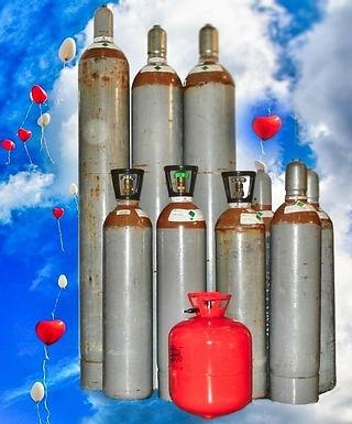 5l Helium (Ballongas) Druckgas-Mehrwegflasche für bis zu 50 Ballons Ø 28-30cm