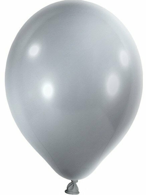 20 Latex-Ballons, Metallicfarbe: silber