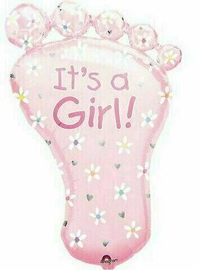 """XXL-Ballon """"Babyfuß It's a Girl"""""""