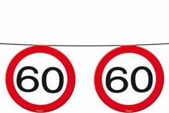 """Geburtstagsgirlande Verkehrsschild """"60"""""""