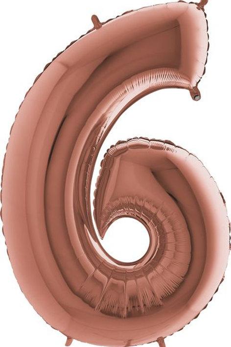 """Riesenzahl """"6"""" - roségold"""