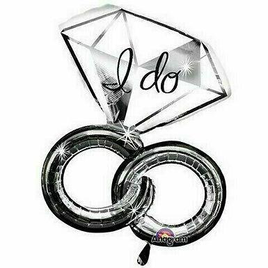 """XXL-Ballon """"Diamantring I do"""""""