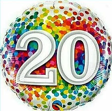 Dekoration zum 20. Geburtstag