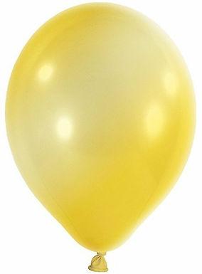 20 Latex-Ballons, Metallicfarbe: gelb