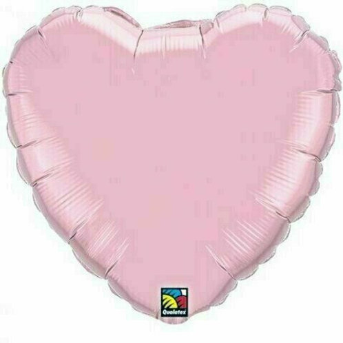 XXL Herzballon, rosa (unifarben)