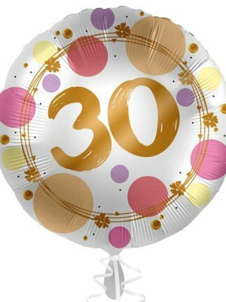 """Folienballon """"30"""" pastell"""