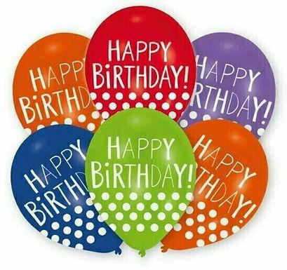 "Latex-Ballon ""Happy Birthday Punkte"", Ø 27,5 cm"
