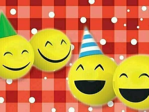 20er-Packung Weitflugkarten: Smileys