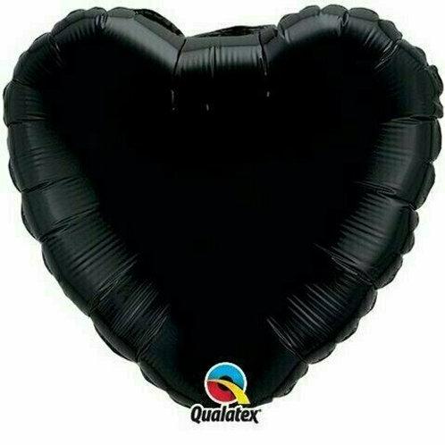 Herzballon, schwarz (unifarben)