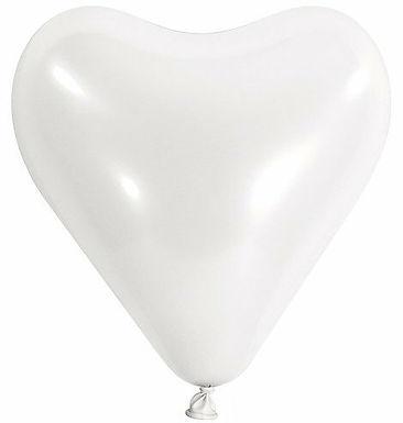20 Latex-Herzen, Standardfarbe: weiß
