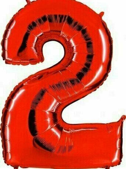 """Riesenzahl """"2"""" - rot"""