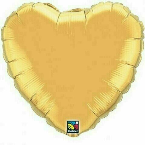 XXL Herzballon, gold (unifarben)