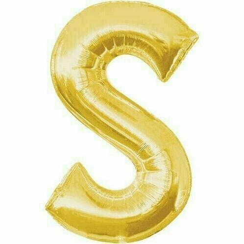 """Riesenbuchstabe """"S"""" - gold"""