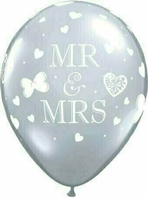 "Latex-Ballon ""Mr. & Mrs."", kristallklar"