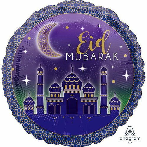 """Folienballon """"Eid Mubarak"""", rund"""