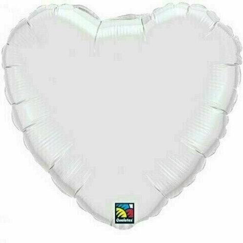 XXL Herzballon, weiß (unifarben)