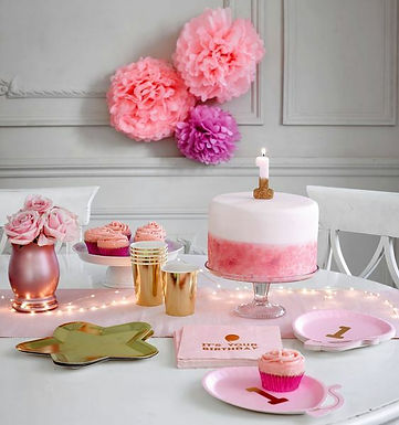 "Zahlenkerze ""1"" rosa-gold"
