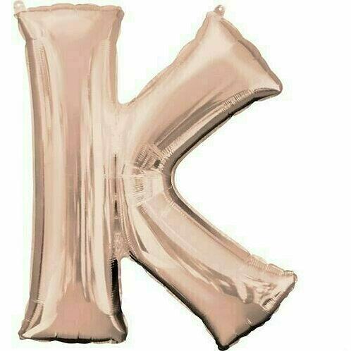 """Riesenbuchstabe """"K"""" - roségold"""
