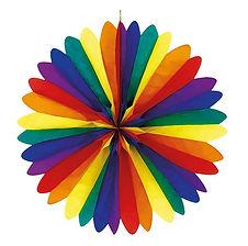 """Hier erhalten Sie Dekorationszubehör mit dem Farbthema """"Regenbogen"""""""