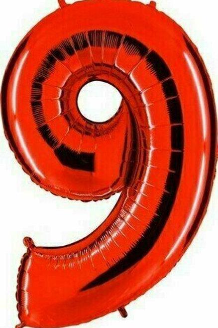 """Riesenzahl """"9"""" - rot"""