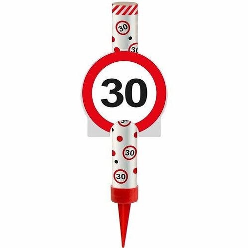 "Kuchen- oder Eisfontäne Verkehrsschild ""30"""