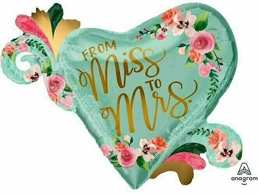 "XXL-Ballon ""From Miss to Mrs"""