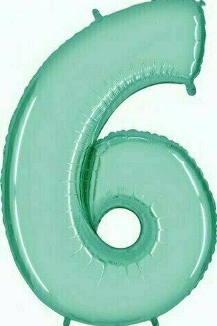 """Riesenzahl """"6"""" - mint"""