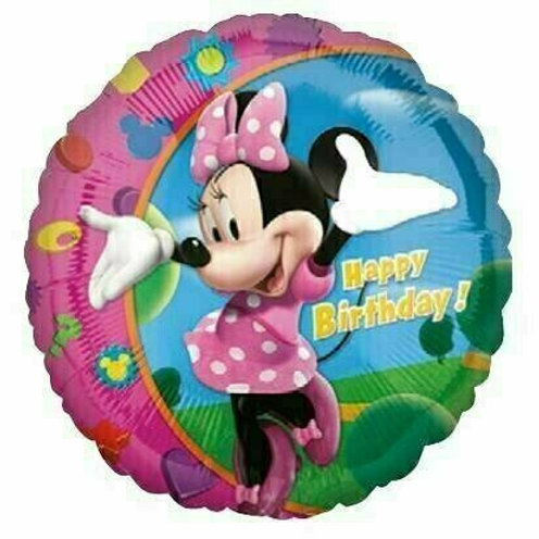 Folienballon Birthday Minnie
