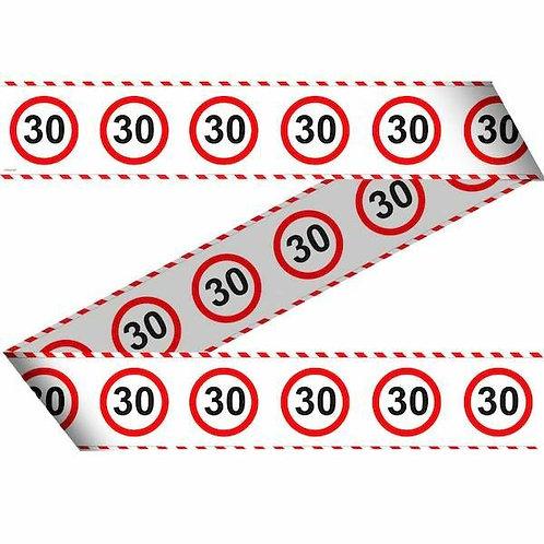 """Flatterband / Absperrband:  Verkehrsschild """"30"""""""