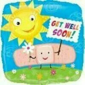 Folienballon: Get Well Sonne & Pflaster (Gute Besserung)