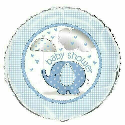 Folienballon Baby Shower / hellblau