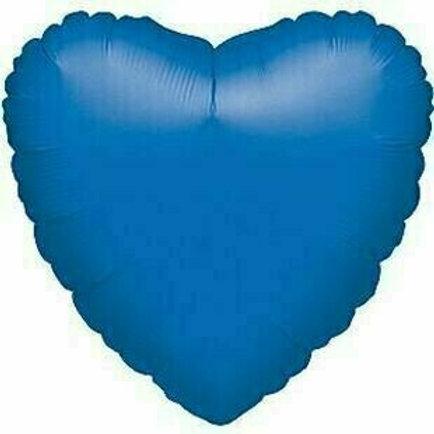 Herzballon, blau