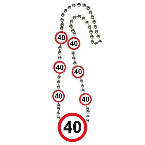 """Halskette Verkehrsschild """"40"""""""