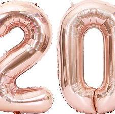 Zahlenballons bzw. Riesenzahlen