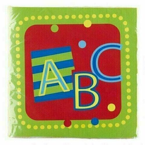 """Servietten """"ABC"""" zum Schulanfang"""