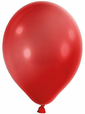 20 Latex-Ballons, Metallicfarbe: rot