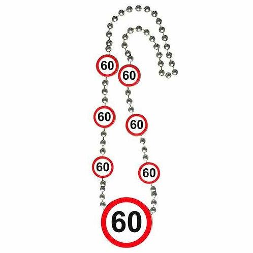 """Halskette Verkehrsschild """"60"""""""