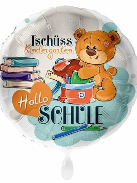 """Folienballon """"Tschüss Kindergarten, Hallo Schule"""""""