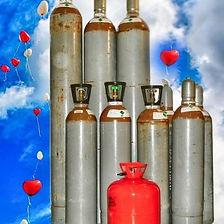 Wir führen sowohl Helium-Leihflaschen als auch Helium-Einwegflaschen