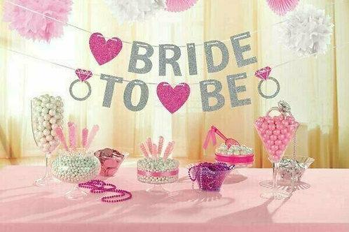 """Glitzergirlande """"Bride to be"""""""