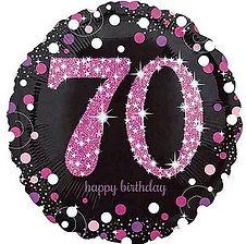 Dekoration zum 70. Geburtstag