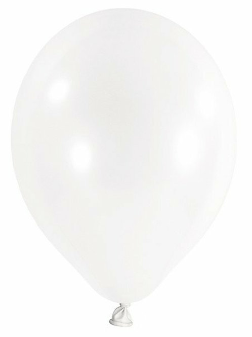 20 Latex-Ballons, Standardfarbe: transparent