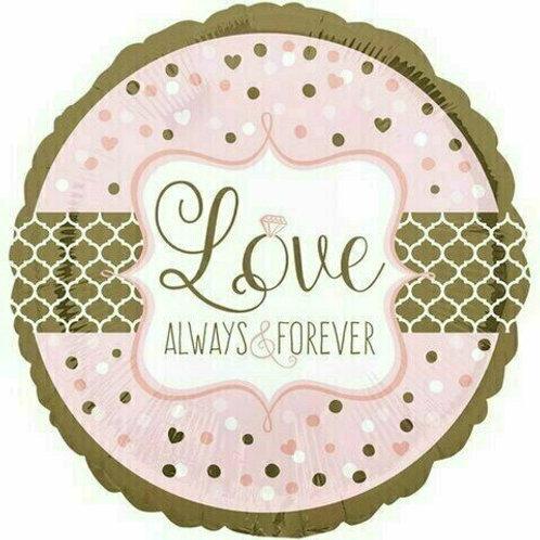 Folienballon: LOVE - Always and Forever