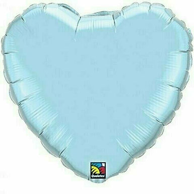 XXL Herzballon, hellblau