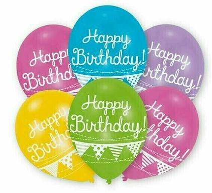 "Latex-Ballon ""Happy Birthday Wimpel"", Ø 27,5 cm"