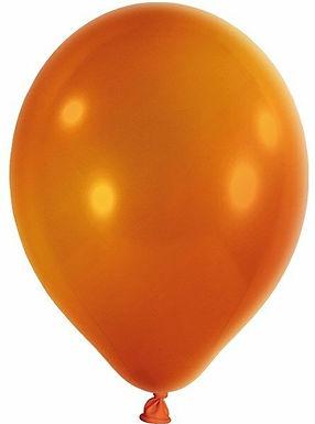20 Latex-Ballons, Metallicfarbe: orange
