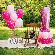 Dekorationszubehör zum 1. Geburtstag für Mädchen.