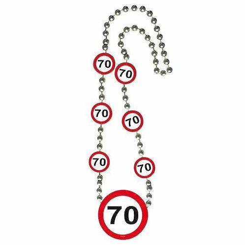 """Halskette Verkehrsschild """"70"""""""