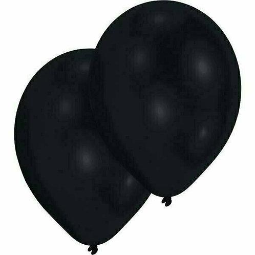 20 Latex-Ballons, Standardfarbe: schwarz