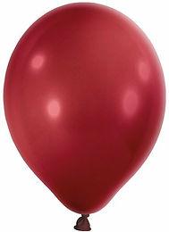 20 Latex-Ballons, Metallicfarbe: burgund, ungefüllt